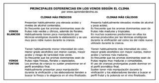 Diferencias en los Vinos según el Clima